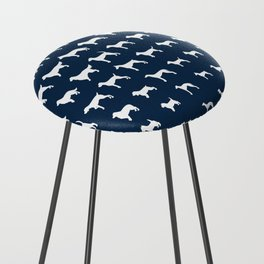 All Dogs (Navy) Counter Stool