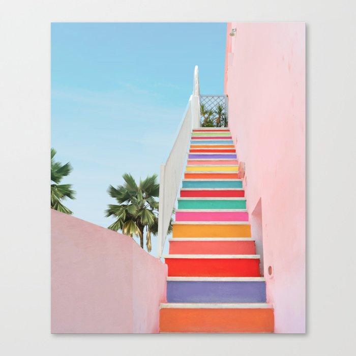 Rainbow Stairway Canvas Print