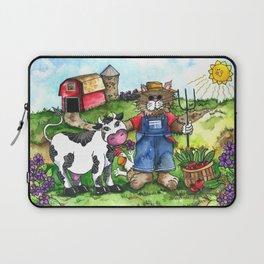 Farmer Fluffy at Harvest Time Laptop Sleeve