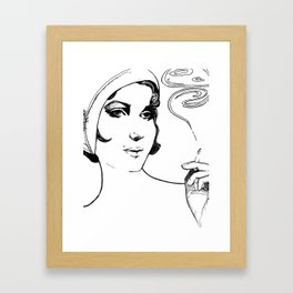 Smoker Framed Art Print