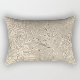 Vintage Map of Birmingham England (1851) Rectangular Pillow