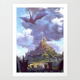 City of Dragons Art Print