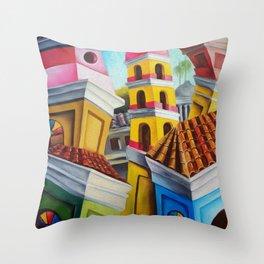 Remedios, Cuban town Throw Pillow