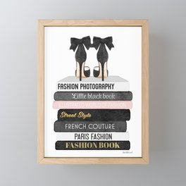 Books, Fashion books, Gray,Fashion art, fashion poster, fashion wall art, fashion illustration, fash Framed Mini Art Print