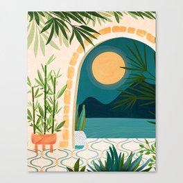 Full Moon Rising / Night Landscape Canvas Print