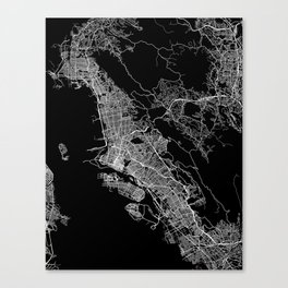 oakland map california Canvas Print