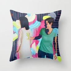 Katie and Chloe II Throw Pillow