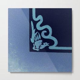 """Art Stucco"" Blue Right Metal Print"