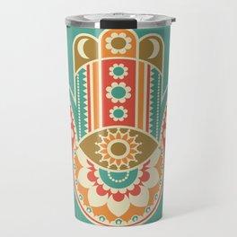 Colorful Hamsa Hand Travel Mug