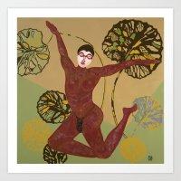 Men in Motion #4 Fly Art Print