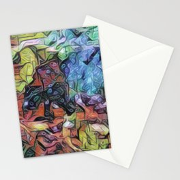 EXPLORATION - Abstract Painting Stationery Cards
