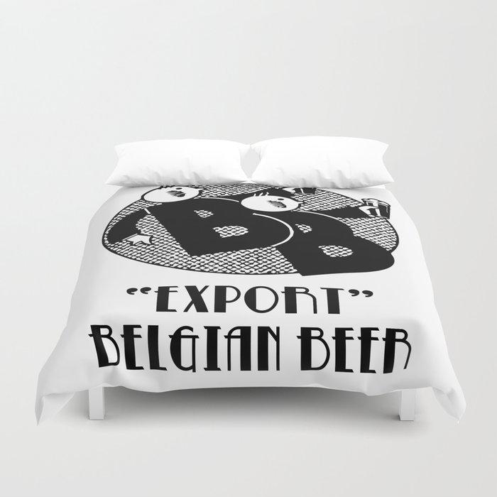 Belgian beer cartoon style Duvet Cover