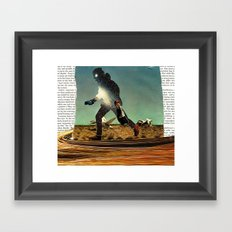 Primitive Mars Runner Framed Art Print