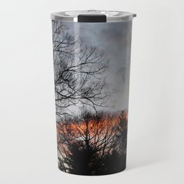 red clouds in the sky Travel Mug