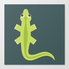 Letter L // Animal Alphabet // Lizard Canvas Print