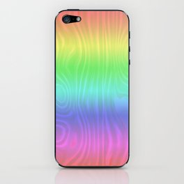 Groovy Pastel Rainbow iPhone Skin