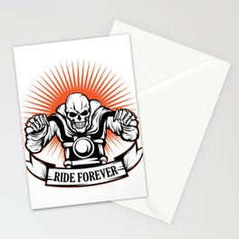 A Unique Detailed Riding Skeletal Tee For Yourself? Here's An Awesome T-shirt For You Ride Forever Stationery Cards