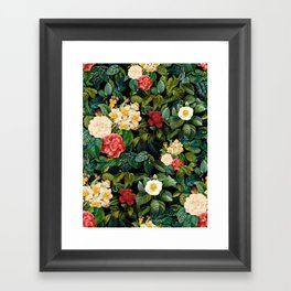 NIGHT FOREST VIII Framed Art Print