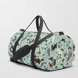 Mustelids from Spain pattern Duffle Bag