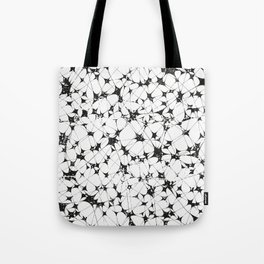 Black White Abstract Pattern, entanglement Tote Bag