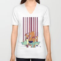 50s V-neck T-shirts featuring Barbecue by Ale Giorgini
