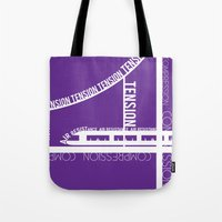 physics Tote Bags featuring Typed Force by Asif Mallik