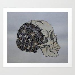 Mandala Skull Art Print