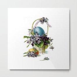 Vintage Easter Basket Metal Print