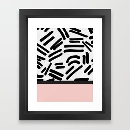 Patterned & Pink Framed Art Print