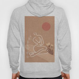 Woman in Nature Illustration Hoody