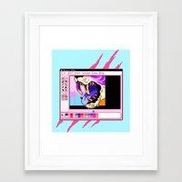 beast Framed Art Prints featuring beast by Ginseng&Honey