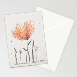 flor naranja Stationery Cards