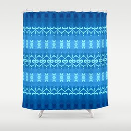 Indigo Tribal River Shower Curtain
