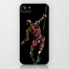 Javelin Throw Athlete Original Digital Drawing iPhone Case