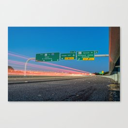 Highway to Light Canvas Print
