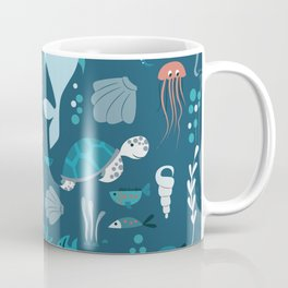Sea creatures 004 Coffee Mug