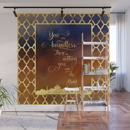 You are boundless. There is nothing you can't do. - Khalid Wall Mural