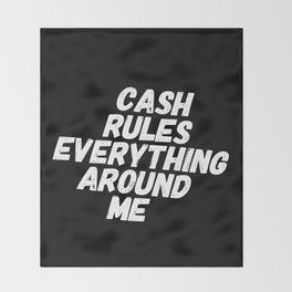 Cash Rules CREAM Throw Blanket