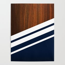 Wooden Navy Poster