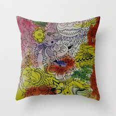 skribb skribbs 7 Throw Pillow