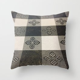 Black and white picnic Throw Pillow