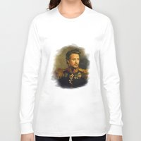 robert farkas Long Sleeve T-shirts featuring Robert Downey Jr. - replaceface by replaceface