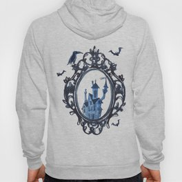 Castle in a frame with bats Halloween. Hoody
