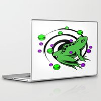 frog Laptop & iPad Skins featuring Frog  by Michael Moriarty Photography