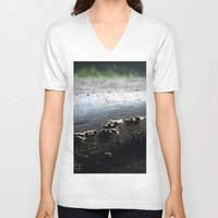 mushrooms V-neck T-shirts featuring mushrooms by nast
