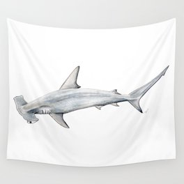Hammerhead shark for shark lovers, divers and fishermen Wall Tapestry