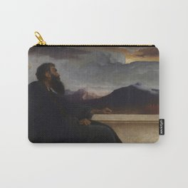 """David: """"Oh, that I had wings like a Dove! For then would I fly away, and be at rest."""" Psalm 55:6 by Frederic Leighton Carry-All Pouch"""