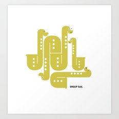 Group Sax Art Print