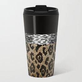 ANIMAL PRINT BLACK AND BROWN Travel Mug