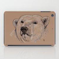 polar bear iPad Cases featuring Polar Bear by Ursula Rodgers